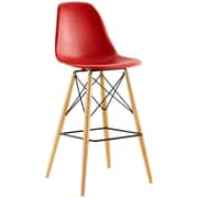 Pyramid Dining Side Bar Stool Set of 4 in Red (889654077190)