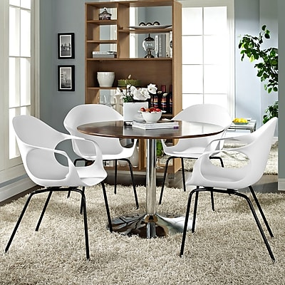Swerve Dining Set, Set of 4 in White (889654069508)