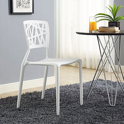 Astro Dining Side Chair in White (848387081966)