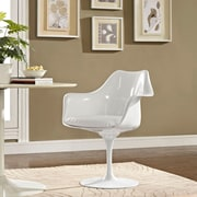 Lippa Dining Vinyl Armchair in White (848387055141)