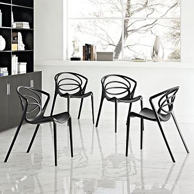 Locus Dining Set, Set of 4 in Black (889654069287)