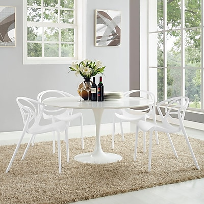 Locus Dining Set, Set of 4 in White (889654069317)
