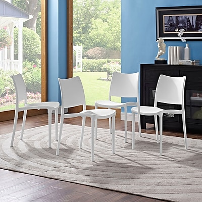 Hipster Dining Side Chair Set of 4 in White (889654078265)