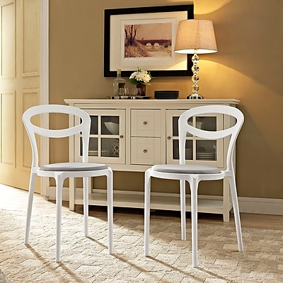Assist Dining Side Chair Set of 2 in White Gray (889654078272)