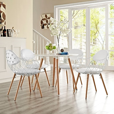Basket Dining Set, Set of 4 in White (889654074274)