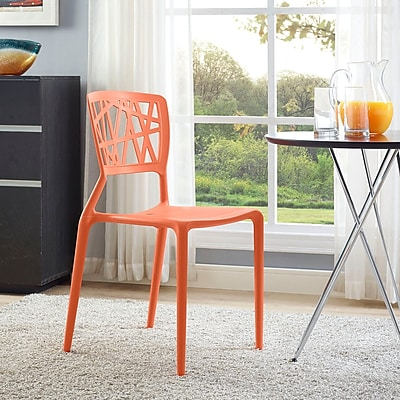 Astro Dining Side Chair in Orange (848387081942)