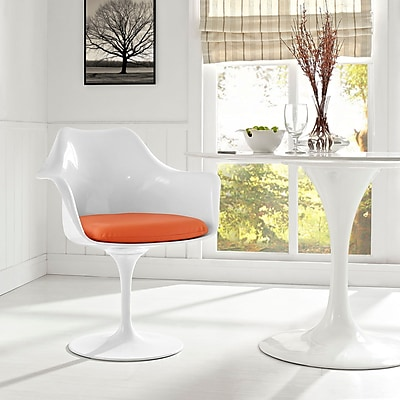 Lippa Dining Vinyl Armchair in Orange (848387055110)