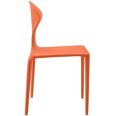 Draw Dining Side Chair in Orange (848387082246)