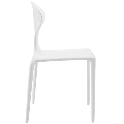 Draw Dining Side Chair in White (848387082260)