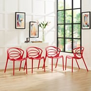 Locus Dining Set, Set of 4 in Red (889654069300)