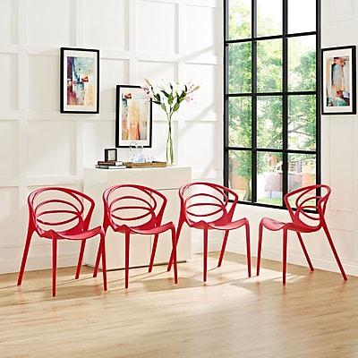 Locus Dining Set, Set of 4 in Red (889654069300)