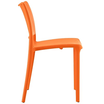 Hipster Dining Side Chair Set of 2 in Orange (889654077220)
