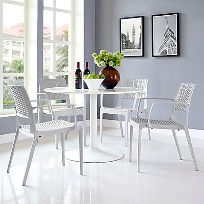 Astute Dining Set, Set of 4 in Gray (889654074335)