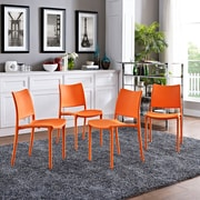 Hipster Dining Side Chair Set of 4 in Orange (889654078241)