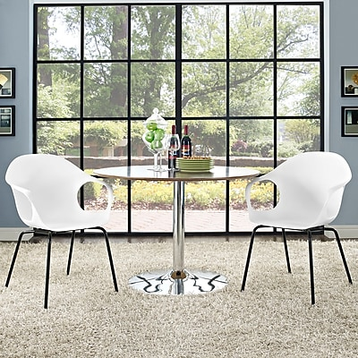 Swerve Dining Set, Set of 2 in White (889654069492)
