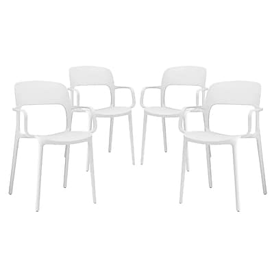 Modway Hop Dining Set of 4 in White (889654069522)