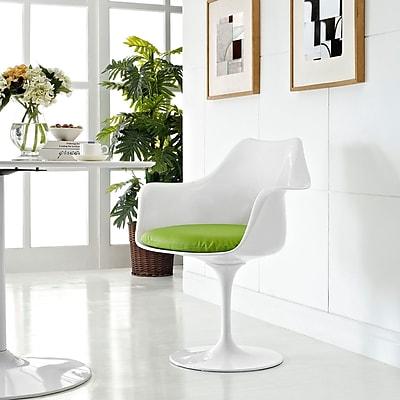 Lippa Dining Vinyl Armchair in Green (848387055097)