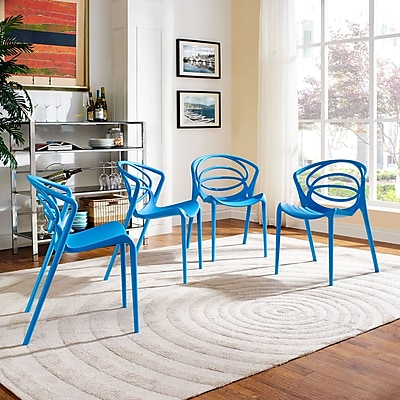 Locus Dining Set, Set of 4 in Blue (889654069294)