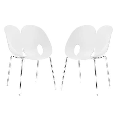 Modway Envelope Dining Set of 2 in White (889654069324)