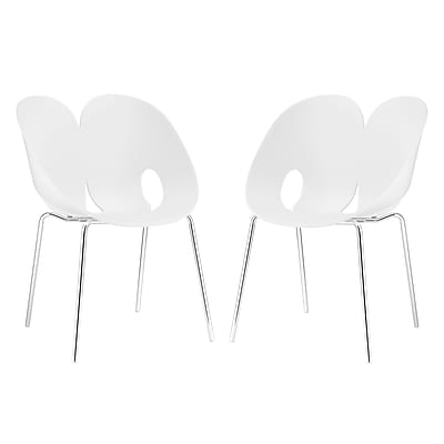 Modway Envelope Dining Set of 2 in White (889654069324)