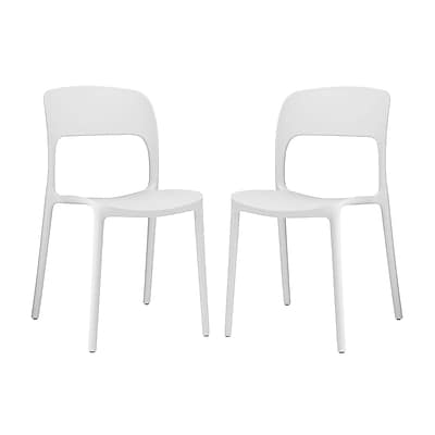Modway Hop Dining Set of 2 in White (889654072256)