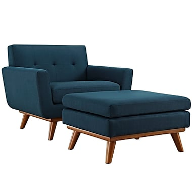 Engage 2 Piece Armchair and Ottoman in Azure (889654051718)