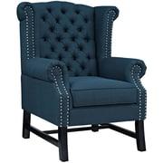 Steer Fabric Armchair in Azure (889654041252)