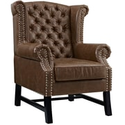 Steer Armchair in Brown (889654041276)