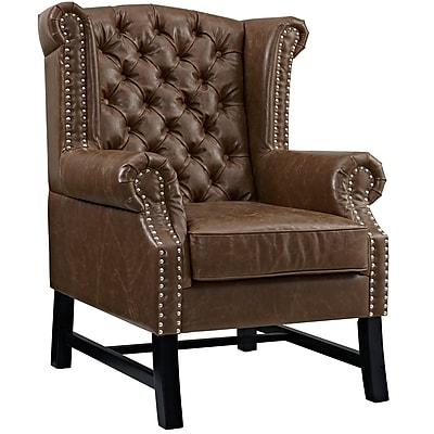 Steer Armchair in Brown (889654041276)