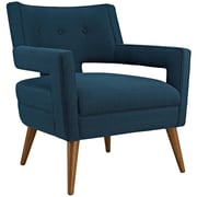 Sheer Fabric Armchair in Azure (889654040965)