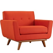 Engage 2 Piece Armchair and Ottoman in Atomic Red (889654051701)