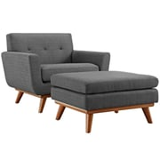 Engage 2 Piece Armchair and Ottoman in Gray (889654051732)