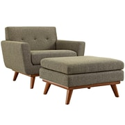 Engage 2 Piece Armchair and Ottoman in Oatmeal (889654055358)