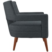 Sheer Fabric Armchair in Gray (889654040972)