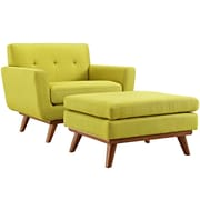 Engage 2 Piece Armchair and Ottoman in Wheatgrass (889654055372)