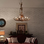 Modway Charge Chandelier in Brown (889654039846)