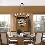 "Modway Teleport 29"" Chandelier in Brown (889654039877)"
