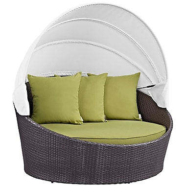 Modway Convene Canopy Outdoor Patio Daybed in Espresso Peridot (889654045700)