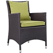 Convene 5 Piece Outdoor Patio Dining Set in Espresso Peridot (889654055563)