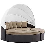 Modway Convene Canopy Outdoor Patio Daybed in Espresso Mocha (889654045557)