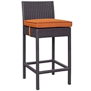 Convene 5 Piece Outdoor Patio Pub Set in Espresso Orange (889654027980)