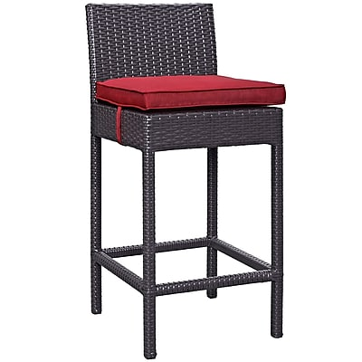 Convene 5 Piece Outdoor Patio Pub Set in Espresso Red (889654028000)