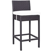 Convene 5 Piece Outdoor Patio Pub Set in Espresso White (889654028024)