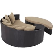 Convene Outdoor Patio Daybed in Espresso Mocha (889654045748)