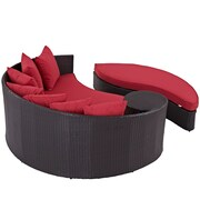 Convene Outdoor Patio Daybed in Espresso Red (889654045779)