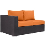 Convene 11 Piece Outdoor Patio Sectional Set in Espresso Orange (889654045090)