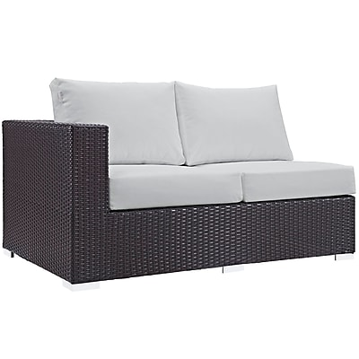 Convene 11 Piece Outdoor Patio Sectional Set in Espresso White (889654045137)