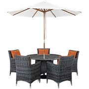 Modway Summon 7 Piece Outdoor Patio Sunbrella® Dining Set in Canvas Tuscan (889654067771)