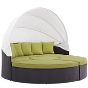 Modway Convene Canopy Outdoor Patio Daybed in Espresso Peridot (889654045571)