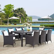 Convene 9 Piece Outdoor Patio Dining Set in Espresso White (889654061229)
